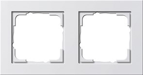 Обладающая повышенной прочностью Рамка двухместная Gira E2 Белый Глянцевый