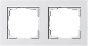 Обладающая повышенной прочностью Рамка двухместная Gira E2 Белый Матовый