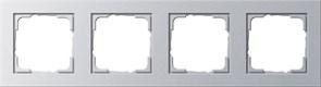 Обладающая повышенной прочностью Рамка четырехместная Gira E2 Алюминий