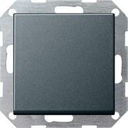 Клавишный выключатель с самовозвратом 10 А / 250 В~ в сборе Gira System 55 Антрацит
