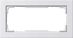 Установочные рамки без серединной перемычки, обладающие повышенной прочностью двухместные Gira E2 Белый