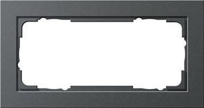 Установочные рамки без серединной перемычки, обладающие повышенной прочностью двухместные Gira E2 Антрацит